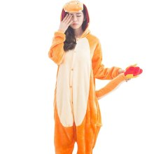 Pyjamas Kigurumi Pokemon Dracaufeu Onesie adulte Bande Dessinée Combinaison Orange Dragon Vetement Costume Femmes Hommes