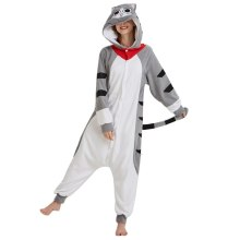 Pyjamas Kigurumi Déguisement Combinaison Adulte Chat Sweet Home Chi / Cat Cheese Polaire Blanc Halloween Animal Cosplay Vêtements De Nuit Costumes