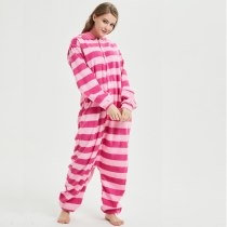 Déguisement Combinaison Adulte Chesire Cat polaire Pyjamas Kigurumi pour Homme et Femme Rouge Noël Halloween Carnaval Animal Cosplay Costumes