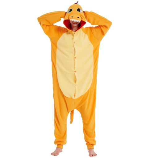 Déguisement Combinaison Adulte Dragon Pokemon Dracaufeu Bande Dessinée Charmander DragonPolaire Pyjamas Kigurumi Homme Femme Orange Noël Halloween Carnaval Animal Cosplay Costumes