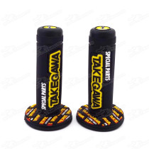 Hand Grip Pitbike 7/8 Inch 22mm Handlebar Grips Soft Double For Dirt Pit Monkey Dax Gorilla Bike Go Kart Buggy Scooter Moped Motard Twist Throttle Motocross Enduro
