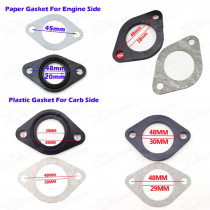 Intake Pipe Isolator Gasket Bushes 20MM 25MM 28MM 30MM Carburetor Manifold Pit Dirt Monkey DAX Gorilla Bike 150cc 160cc 250cc Pitbike Motard