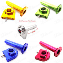 CNC Aluminum Twist Throttle Grip For Yamaha Scooter Street Motorcycle Pit Dirt Monkey Trail Bike Motocross Pitbike