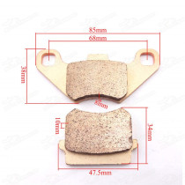 Heavy Duty Copper Disc Brake Pads Caliper Shoes For 50cc 70cc 90cc 110cc ATV Taotao Sunl Kazuma Quad Buggy Go Kart