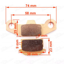 Heavy Duty Disc Brake Pads Caliper Shoes For Apollo Orion SDG SSR Pitster Pro Pit Dirt Bikes Motorcycle Pitbike Motard