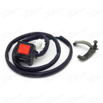 Button Stop Kill Switch For 125cc-160cc YX Lifan SSR YCF Thumpstar Pit Dirt Bike MX Motorcycle Motocross Pitbike Motard Trail Bikes