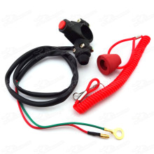 Engine Kill Stop Tether Closed Safety Switch Push Button For Pocket Bike Mini Dirt Bike ATV Quad TRX Minimoto