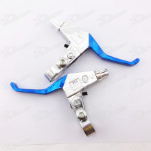 Right Left Brake Lever Set Blue For Gas Petrol Scooter Mini Moto Chopper Pocket Dirt Bike Minimoto