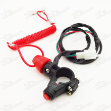 Tether Safety Engine Stop Kill Switch Push Button For Mini Dirt ATV Quad Pocket Bike