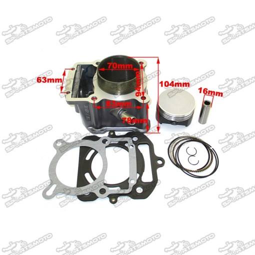 70mm Big Bore Cylinder Piston Kit For Water Cooled 250cc LX250 Zongshen Loncin Engine Pit Dirt Bike ATV Quad 4 Wheeler