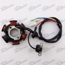 6 Poles Coils Ignition Stator Rotor Magneto For GY6 50cc Engine Chinese Moped Scooter ATV Quad Go Kart