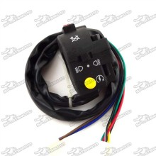 Left Handle Control Switch Assembly 3 Function 7 Wire For 50cc 70cc 90cc 110cc 125cc Chinese ATV Quad 4 Wheeler Kazuma Sunl