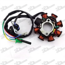 8 Coils Poles Ignition Stator Rotor Magneto For GY6 125cc 150cc Engine Parts Chinese Moped Scooter ATV Quad 4 Wheeler Go Kart
