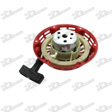 Red Recoil Pull Starter With Cup For Honda 6.5HP GX200 5.5HP GX160