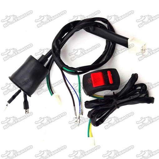 Kill Stop Switch + Wiring Loom Harness For Chinese 50cc 70cc 90cc 110cc 125cc 140cc 150cc 160cc Kick Start Engine Pit Dirt Bike CRF50