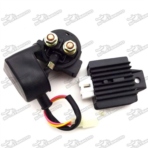 Regulator Rectifier + Starter Solenoid Relay For GY6 50cc 90cc 125cc 150cc Moped Scooter