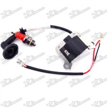Ignition Coil + Red L7T Spark Plug For 2 Stroke 33cc 43cc 49cc Engine Chinese Goped Scooter Mini Moto Super Pocket Bike