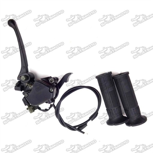 Thumb Throttle Cable + Accelerator Brake Lever + Handle Grips Accelerator For 50cc 70cc 90cc 110cc 125cc Chinese ATV Quad 4 Wheeler