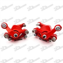 Red  Front & Rear Disc Brake Calipers For 2 Stroke Chinese Pocket Bike Mini Dirt Kids ATV Quad Goped Scooter Go Kart 47cc 49cc