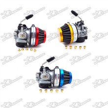 Racing Carb Carburetor 58mm Air Filter Jets For 49cc 50cc 60cc 66cc 80cc 2 Stroke Engine Gas Motorized Bicycle Push Bike