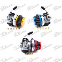 Racing Carb Carburetor + 59mm Air Filter + Jets For 49cc 50cc 60cc 66cc 80cc 2 Stroke Engine Gas Motorized Bicycle Push Bike
