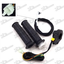 Black Handle Grips + Throttle Cable + Kill Stop Switch For 2 Stroke 49cc 50cc 60cc 66cc 80cc Engine Motorized Bicycle Push Bike