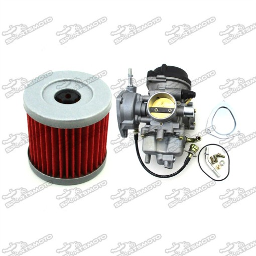 Carburetor + Oil Filter Suzuki LTZ400 2003-2007 Arctic Cat DVX400 2004-2007  Kawasaki KFX400 2003-2006