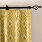 Dust Proof Blackout Pinch Pleated Jacquard Window Curtain Two-Toned Damask Diamond with Blackout Lined