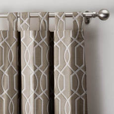 Imperial Trellis Curtain Tab Top Blackout Lining Drapes Panel