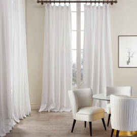 Cotton Linen Curtain Drapery Flat hook for Track Lined Curtains