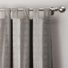 Geo Print Tab Top Drapes Exclusive Home Curtains With Blackout Lining, Lourve Collection