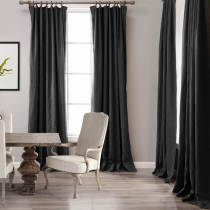 CUSTOM Cotton Linen Curtain Drapery Lined Curtains 9 Colors