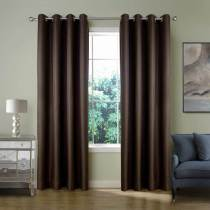 【Custom】HELMUT Faux Linen Waffle Woven Blackout Curtain Panel Drape Antique Bronze Grommet, 5 Colors