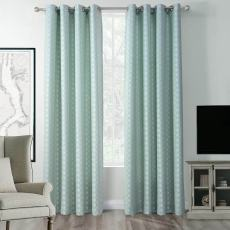 SANDOR Classic Polyester Jacquard Heavy Weight Grommet Diamond Soft Panel Curtain Panel  Drapes (1 Panel )