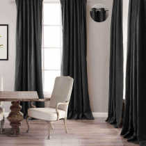 MASHA Cotton Linen Curtain Drapery Antique Bronze Grommet, Lined Curtains, 9 Colors