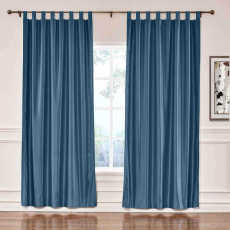CUSTOM Lao Hang Zhou Navy Polyester Cotton Thermal Insulated Curtain