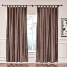 CUSTOM Lao Hang Zhou Brown Polyester Cotton Thermal Insulated Curtain