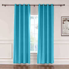 CUSTOM Lao Hang Zhou Lake Blue Polyester Cotton Thermal Insulated Curtain