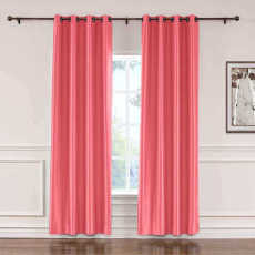 CUSTOM Lao Hang Zhou Fuchsia Polyester Cotton Thermal Insulated Curtain