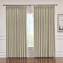 CUSTOM Lao Hang Zhou Beige Polyester Cotton Thermal Insulated Curtain