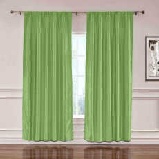 CUSTOM Lao Hang Zhou Green Polyester Cotton Thermal Insulated Curtain