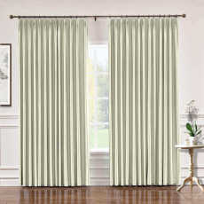 CUSTOM Lao Hang Zhou Ivory Polyester Cotton Thermal Insulated Curtain