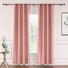 CUSTOM Lao Hang Zhou Coral Polyester Cotton Thermal Insulated Curtain