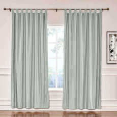 CUSTOM Lao Hang Zhou Light Grey Polyester Cotton Thermal Insulated Curtain