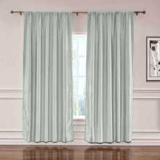 CUSTOM Lao Hang Zhou Pewter Polyester Cotton Thermal Insulated Curtain