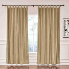 CUSTOM Lao Hang Zhou Taupe Polyester Cotton Thermal Insulated Curtain
