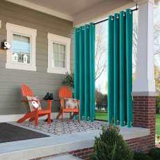 Outdoor Curtain with Top Bottom Aluminum Grommet, Waterproof and Mildew Resistant Patio Cabana Porch Gazebo Panel Drapery (1 Panel),