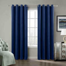 CUSTOM Birkin Sapphire Blue Velvet Curtain Drapery With Lining For Traverse Rod Pole or Track