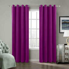 CUSTOM Birkin Purple Velvet Curtain Drapery With Lining For Traverse Rod Pole or Track