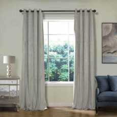 CUSTOM Birkin Sliver Grey Velvet Curtain Drapery With Lining For Traverse Rod Pole or Track